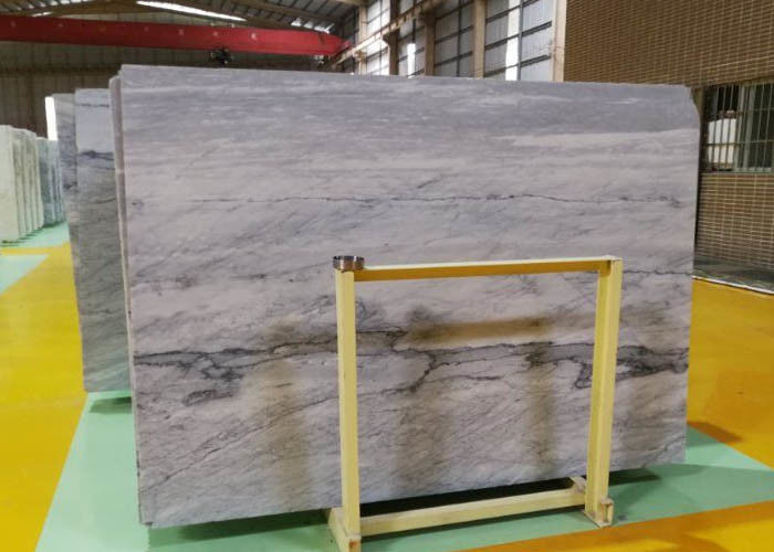 Silver Statuario Armani Grey Calacatta Marble Stone Window Plate CE Certification